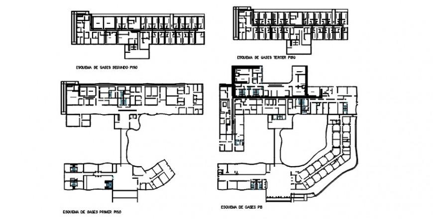 Hospital top view plan