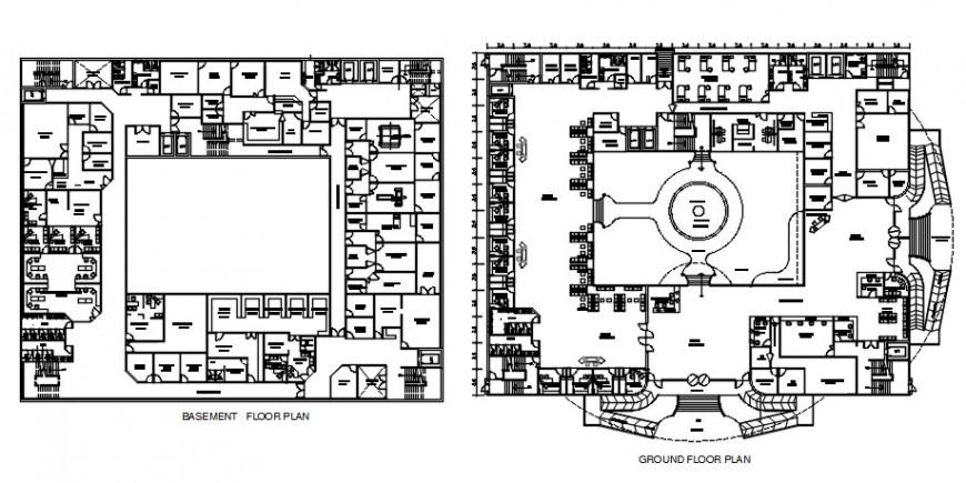Hospital top view plan floor plans