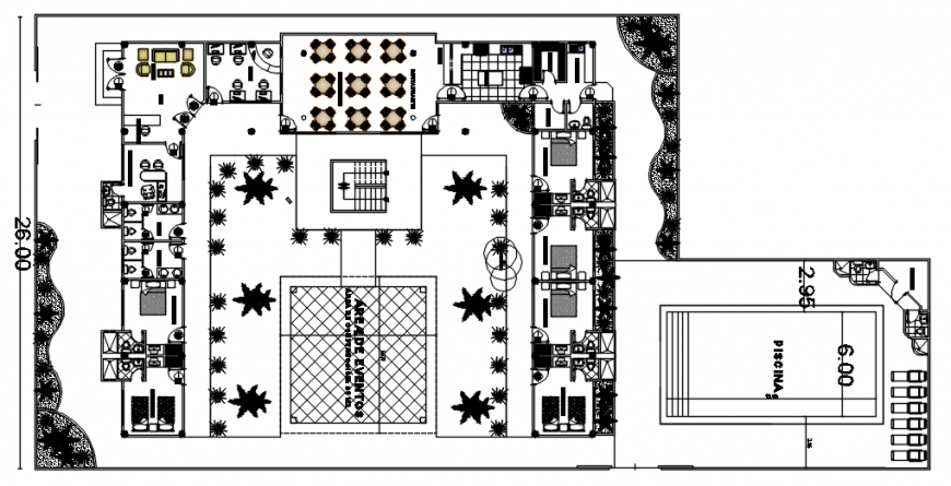 Hostel building units drawings 2d view CAD details in autocad software file