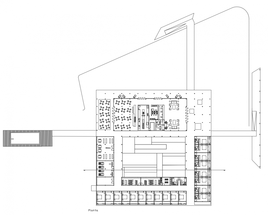 Hostel detailed architecture layout plan cad drawing details dwg file