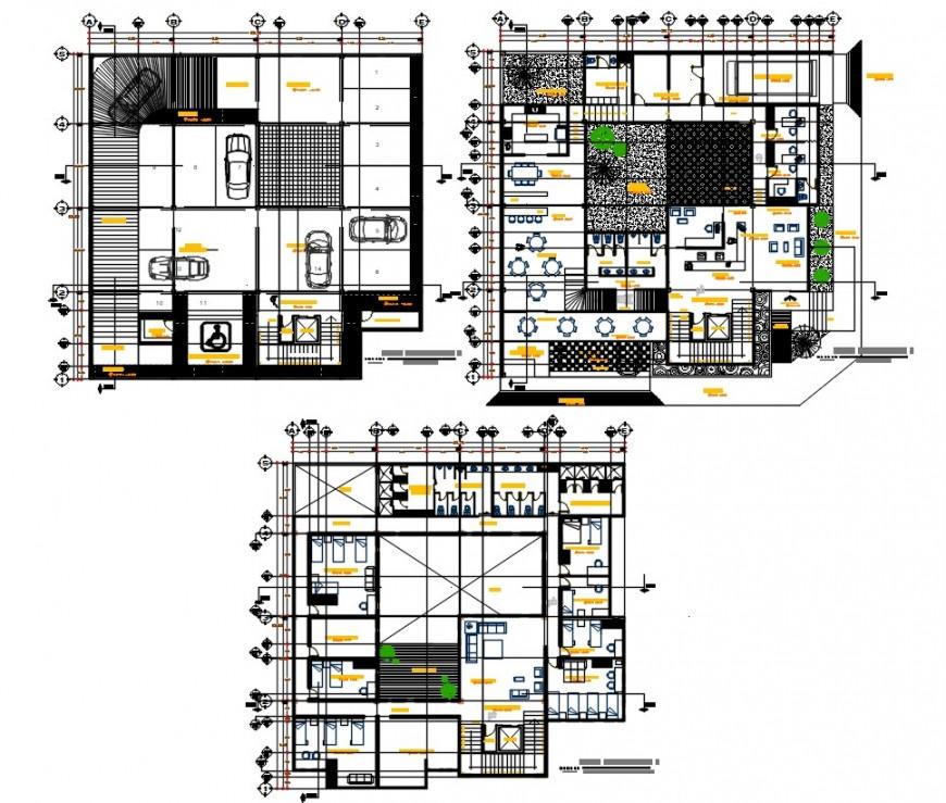 hostel project detail cad file