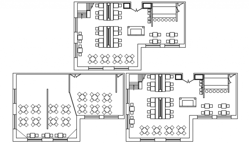 Hotel floor plan in AutoCAD file