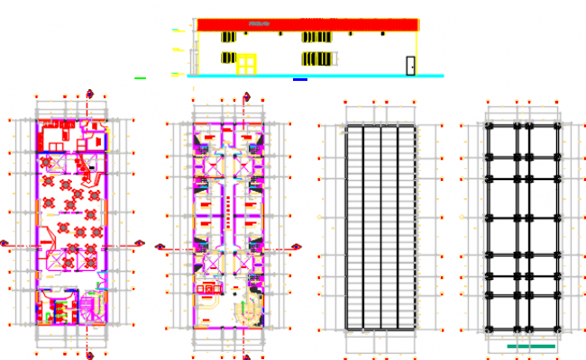 hotel wooden restaurant dwg file
