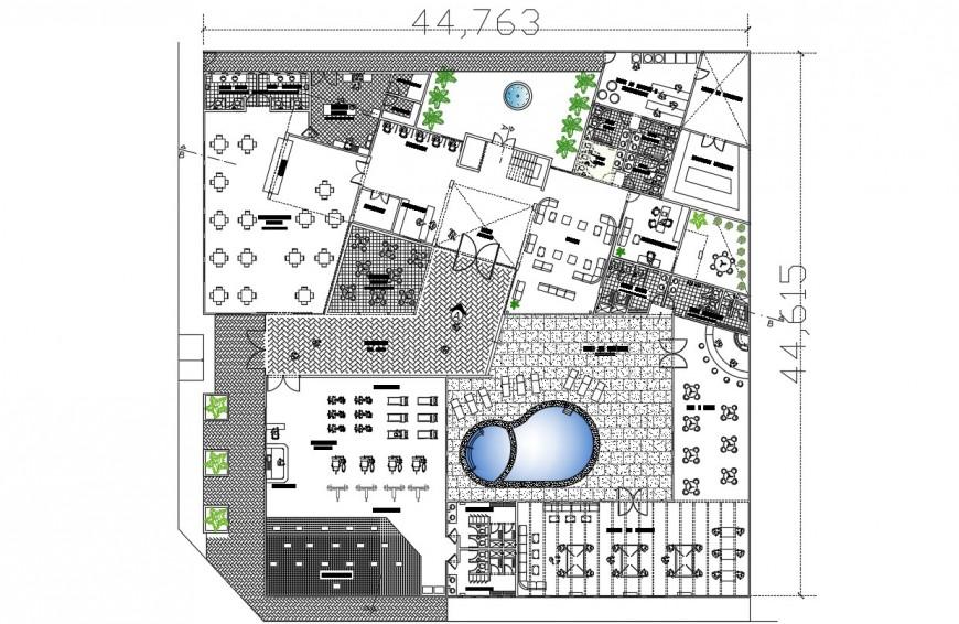 Hotel 3-star autocad file