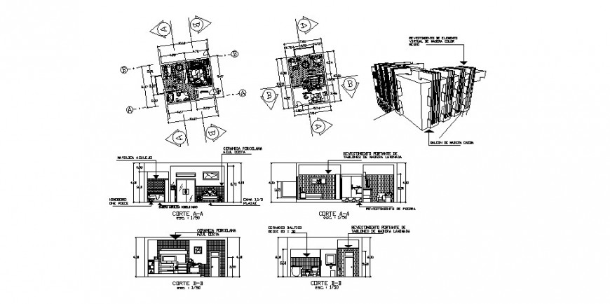 Hotel bed room detail drawing in dwg AutoCAD file.