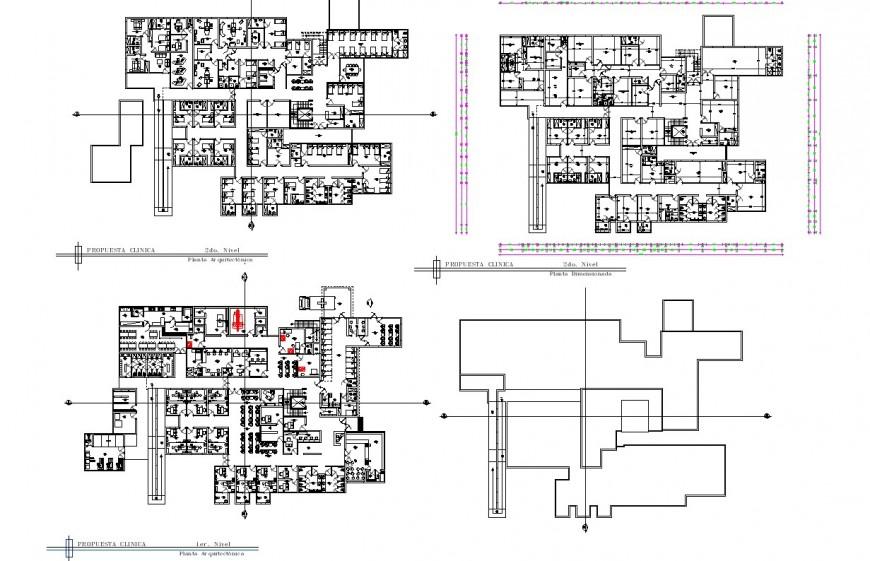 Hotel building detail plan 2d view CAD structural block autocad file
