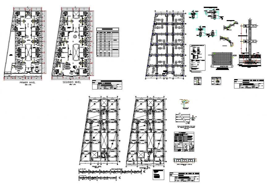 Hotel building detail plan layout 2d view autocad file