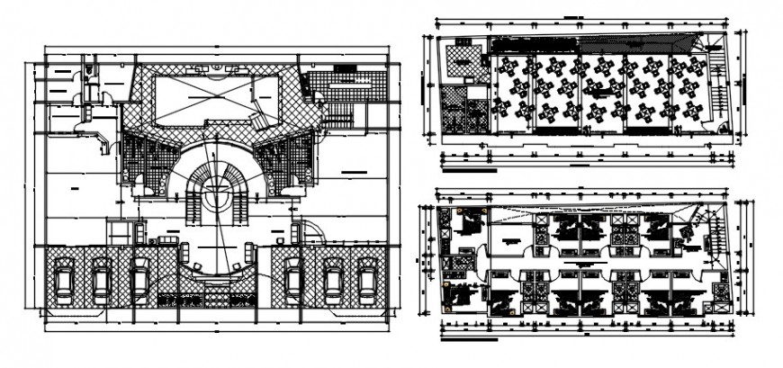 Hotel building drawings details 2d view floor plan AutoCAD software file