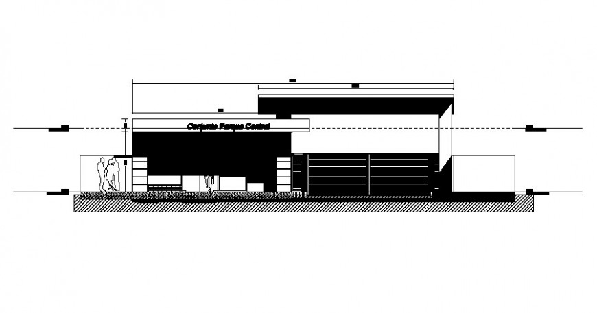 Hotel building drawings elevation 2d view autocad file