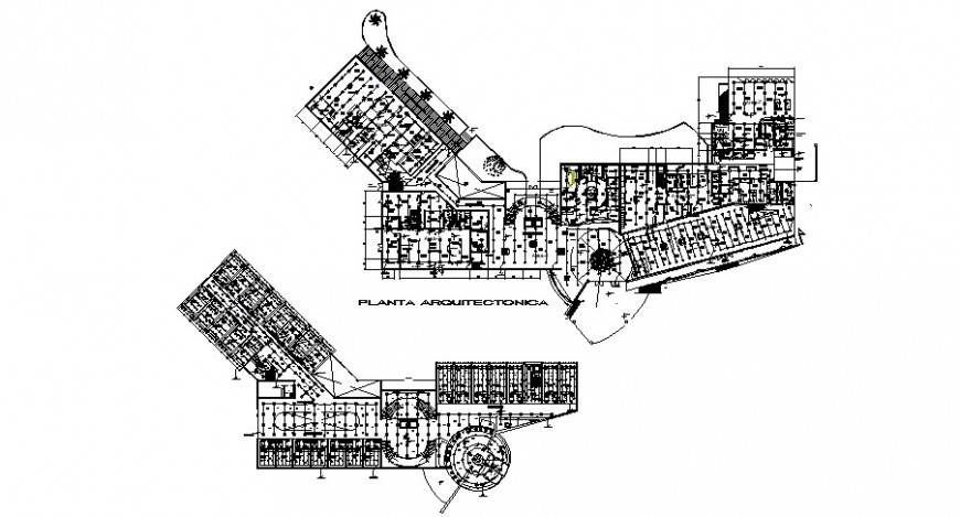 Hotel building floor plan with electrical layout plan cad drawing details dwg file