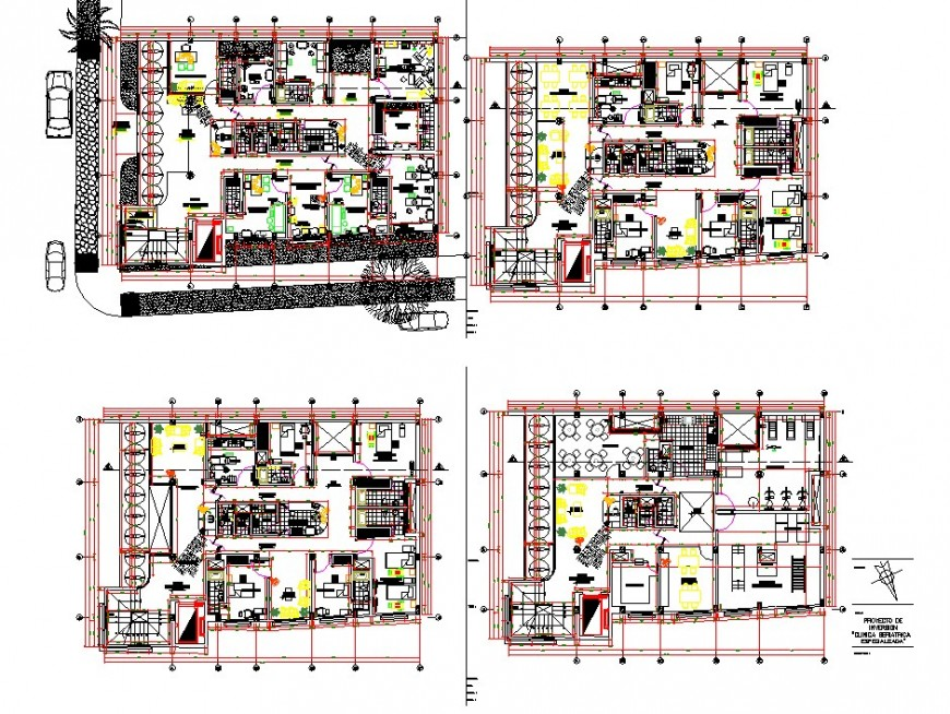 Hotel building structure interior detail 2d view CAD block layout autocad file