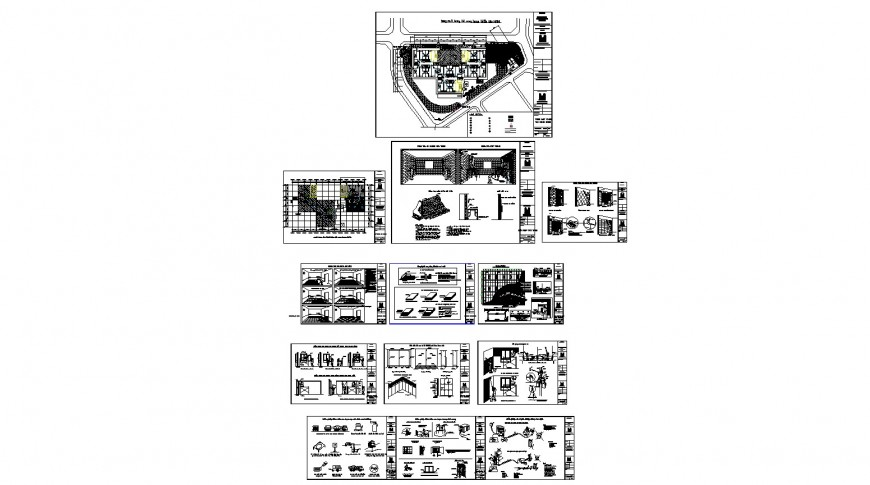 Hotel building working condition detailed architecture auto-cad project dwg file