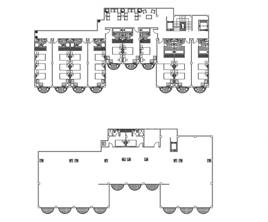 Hotel customer suit area in plan of auto cad file