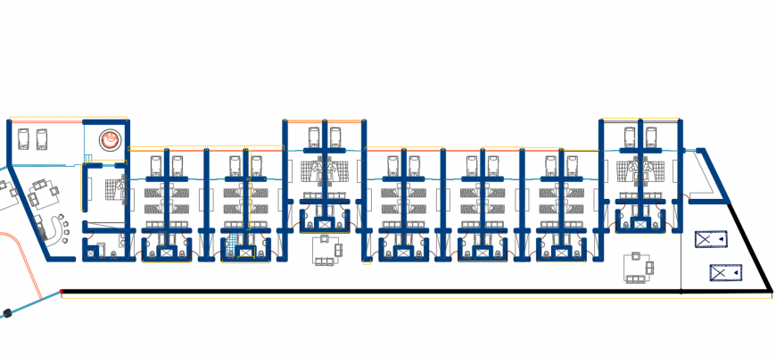 Hotel floor layout plan detail autocad file