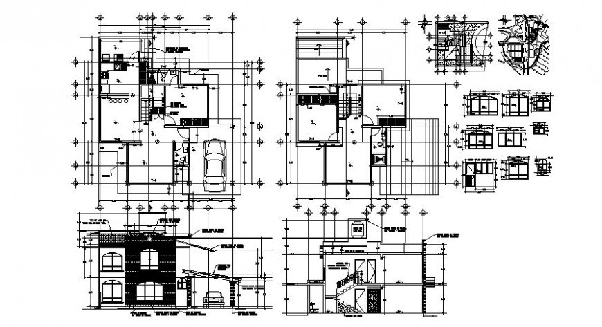 Hotel floor plan and elevation with detail in AutoCAD file