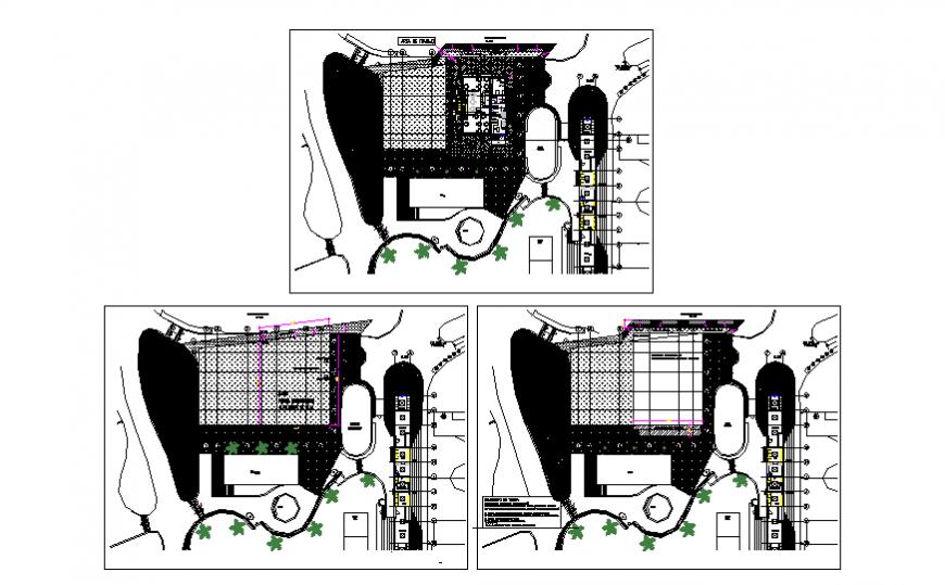 Hotel hatching planning detail dwg file