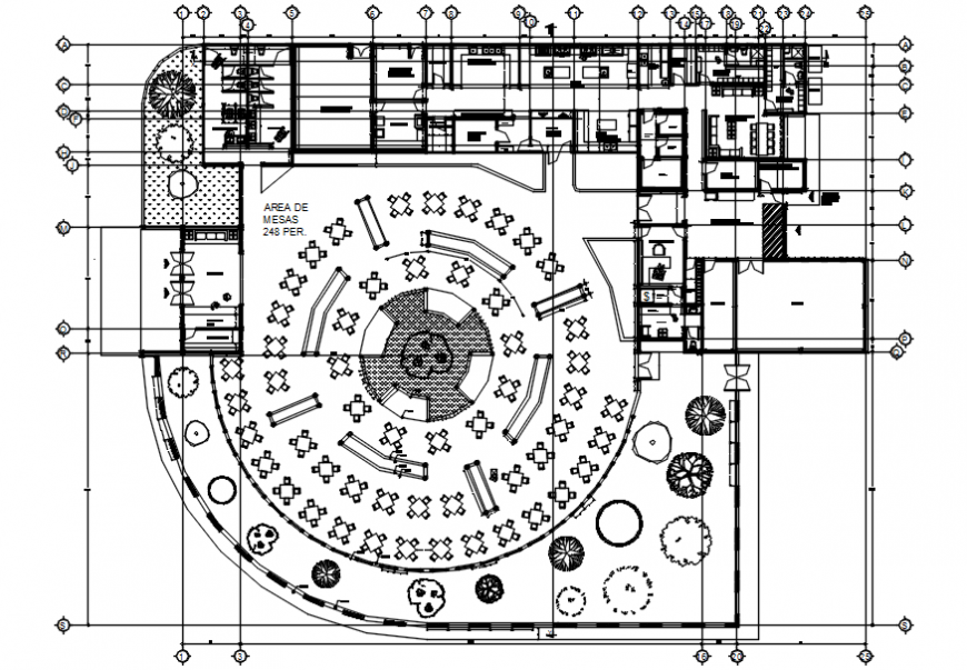 Hotel main plan in AutoCAD file