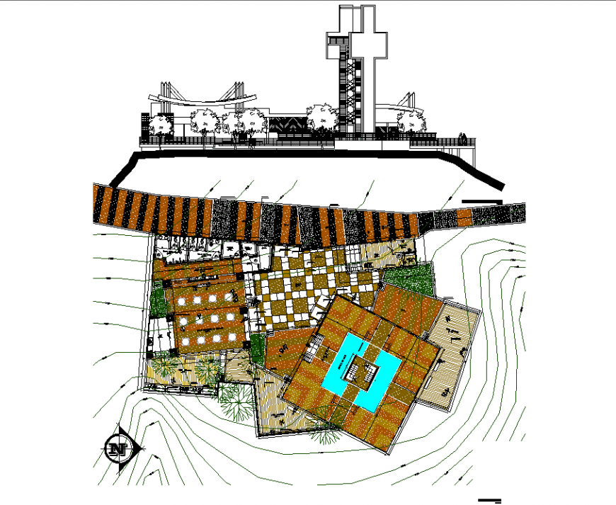 Hotel plan detail with dwg file.