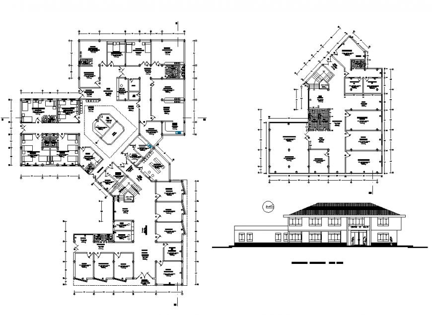 Hotel structure CAD construction detail 2d view layout plan in dwg format