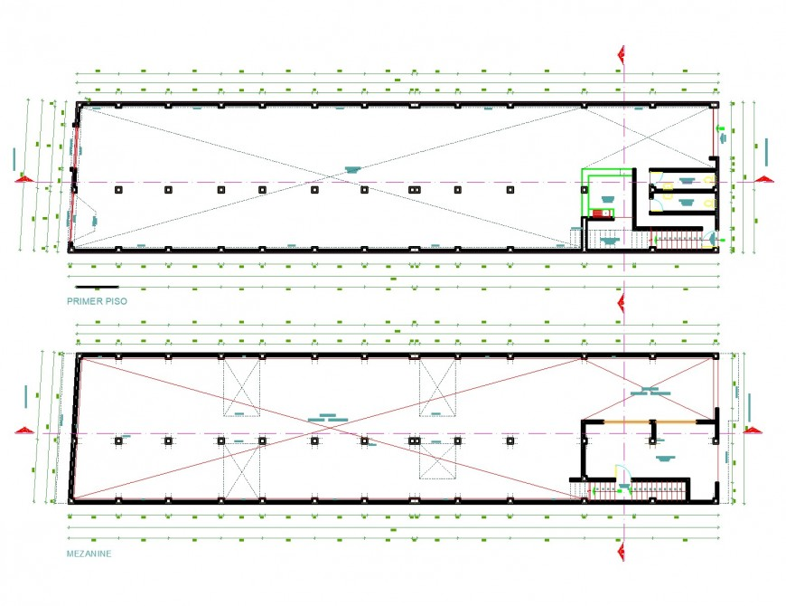 Hotel structure plan detail dwg file