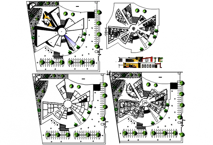 Hotel with rehabilitation center floor plan cad drawing details dwg file