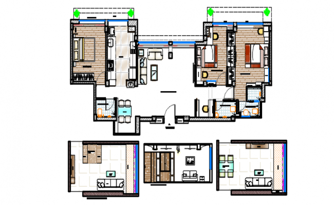 hotellayout plan and elevation