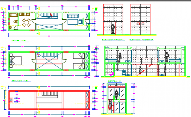 house layout plan dwg file
