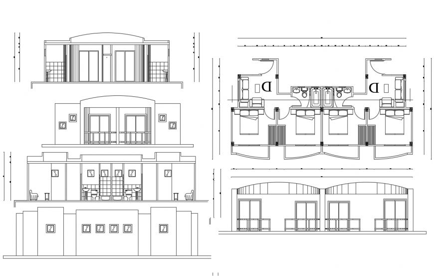 House Architecture Design dwg file