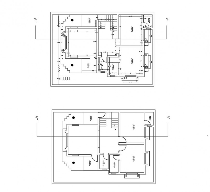 House architecture layout plan and framing plan cad drawing details dwg file