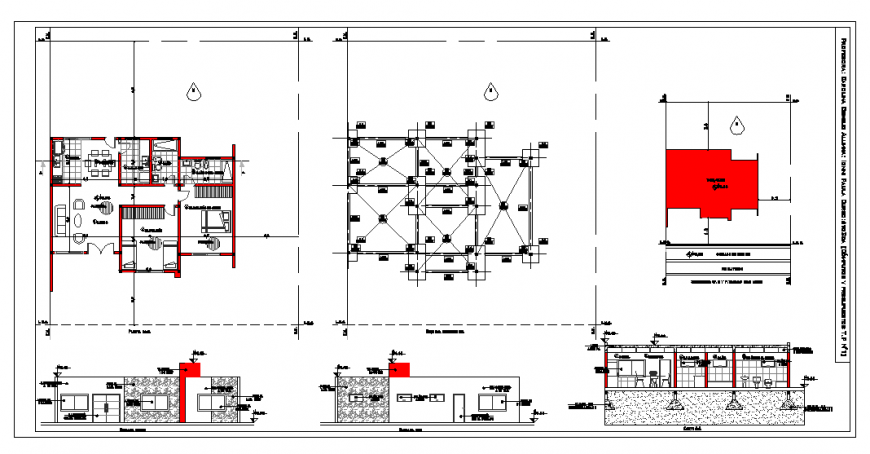 House Architecture Plan Design in DWG file