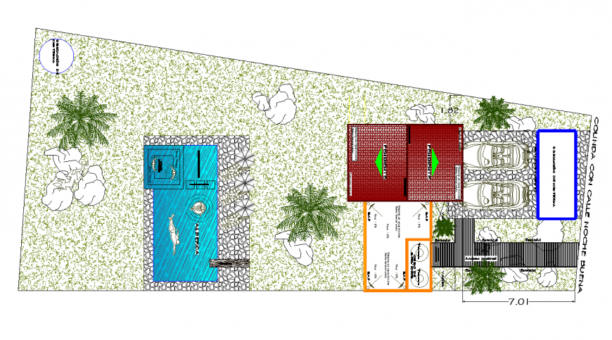 House area plan with architecture design dwg file