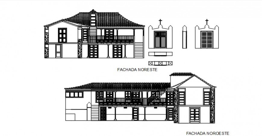 House CAD drawings detail elevation 2d view autocad file