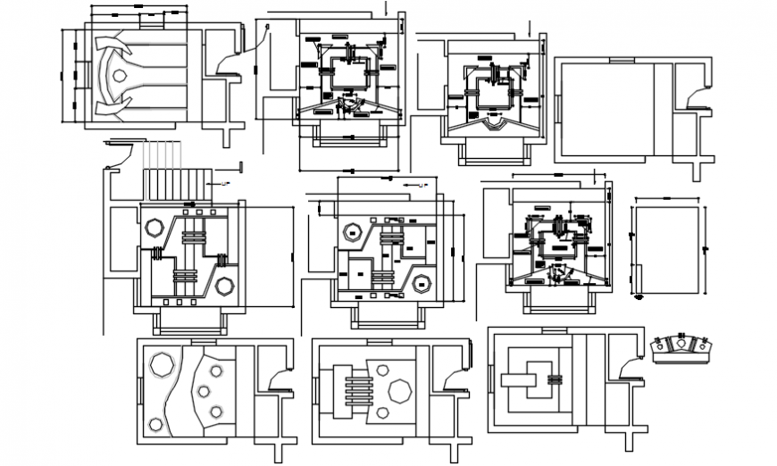House ceiling plans and furniture cad drawing details dwg file