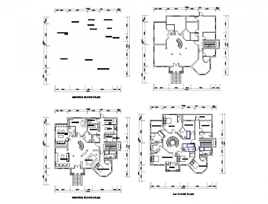 House center line plan detail dwg file