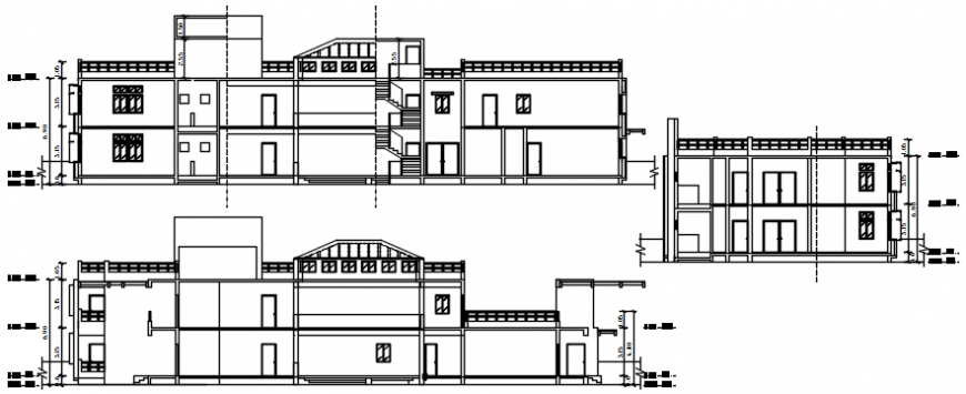 House different axis view in AutoCAD file