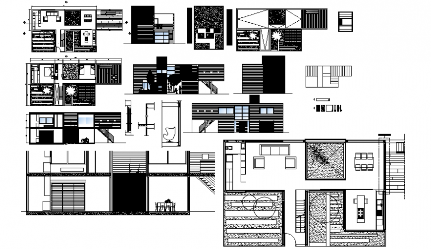 House drawings detail 2d view plan elevation autocad software file