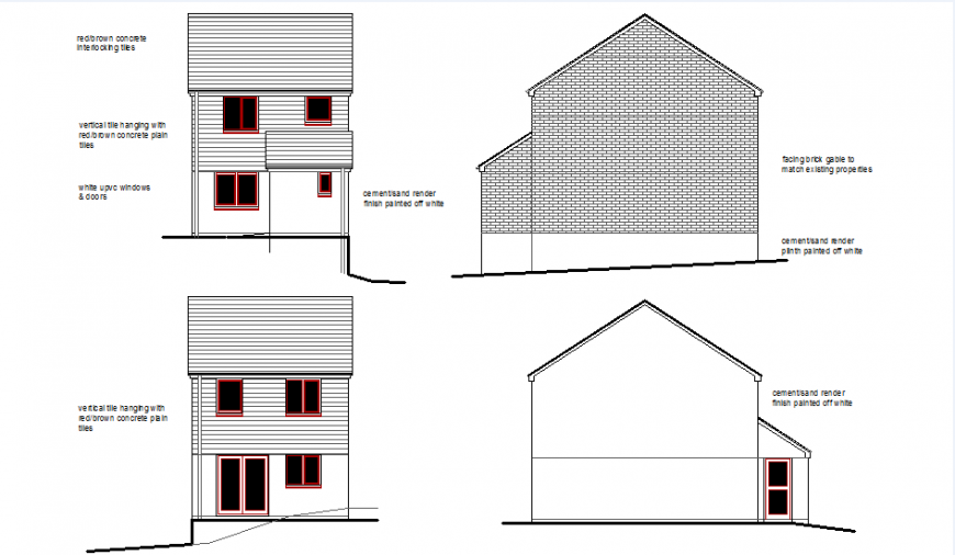 House elevation plan layout file