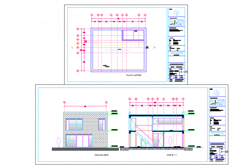 House Elevation Section design in DWG file