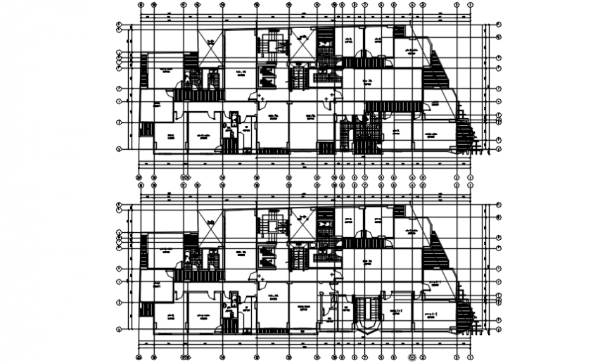 House first and second floor plan with sanitary installation cad drawing details dwg file