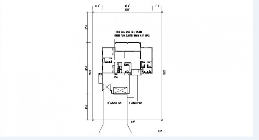 House first floor framing plan structure drawing details dwg file