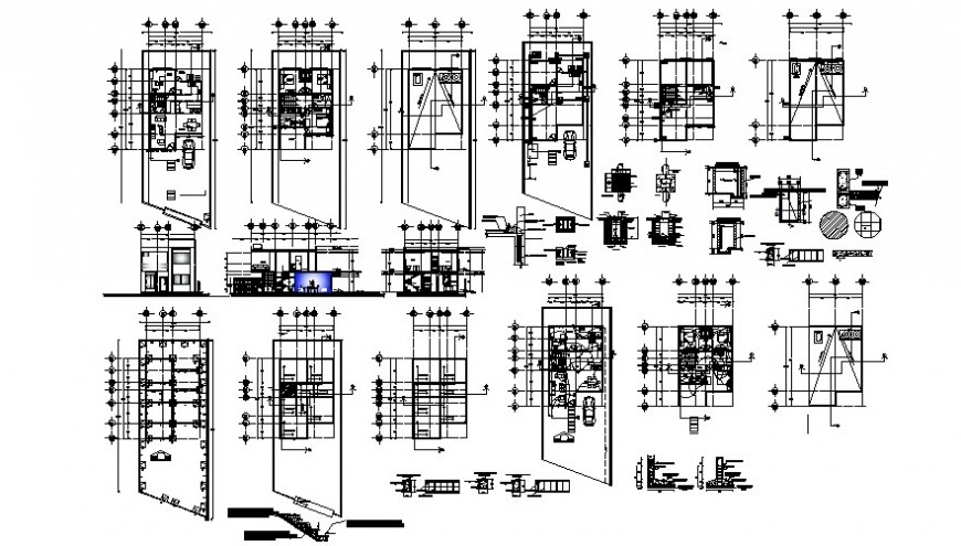 House floor plan and elevation with necessary detail in AutoCAD