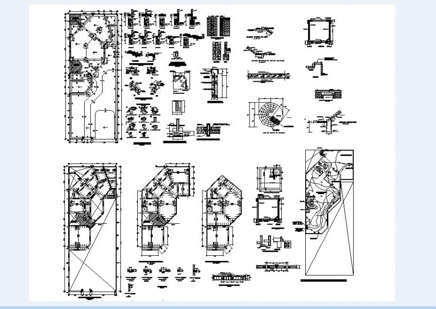 House floor plan and necessary detail of house in auto cad file