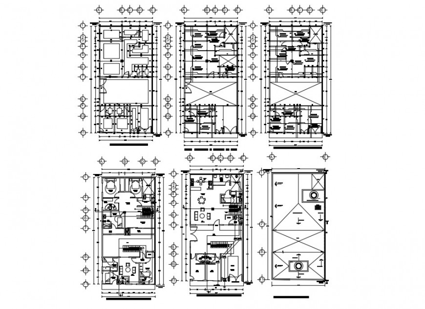 House floor plan detail and sectional detail dwg file in autocad format