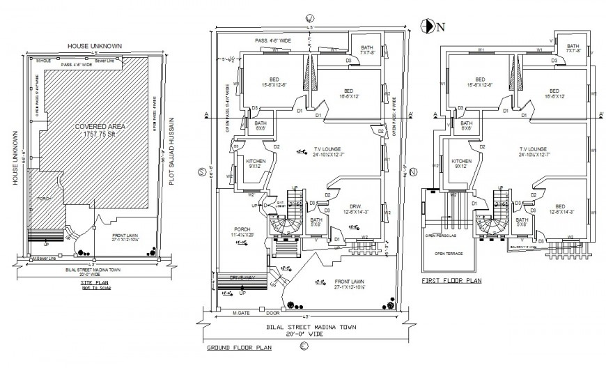House floor plan in auto cad files