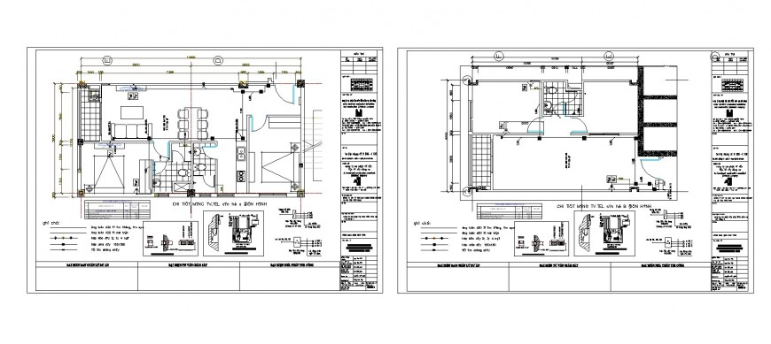 House floors layout plan and sanitary installation cad drawing details dwg file
