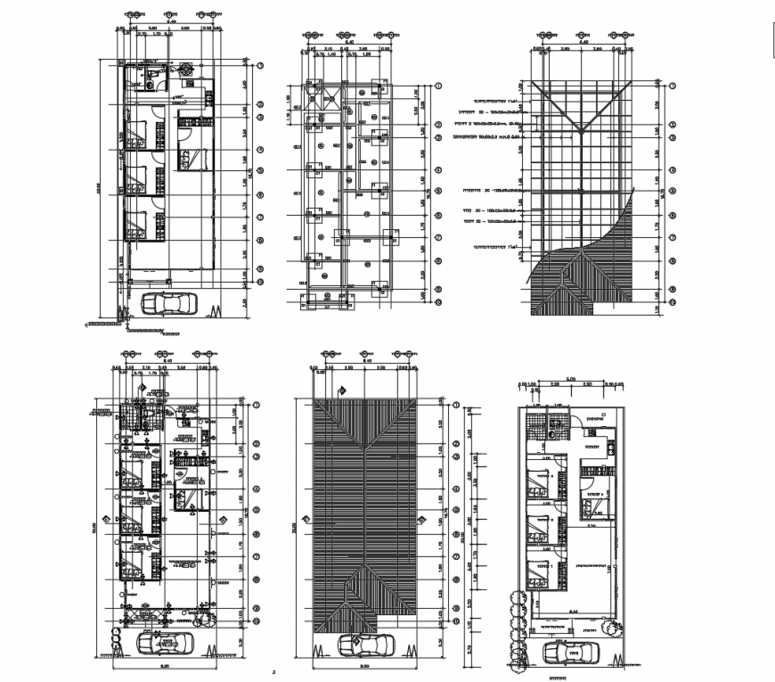House foundation plan, floor plan, cover plan and auto-cad drawing details dwg file