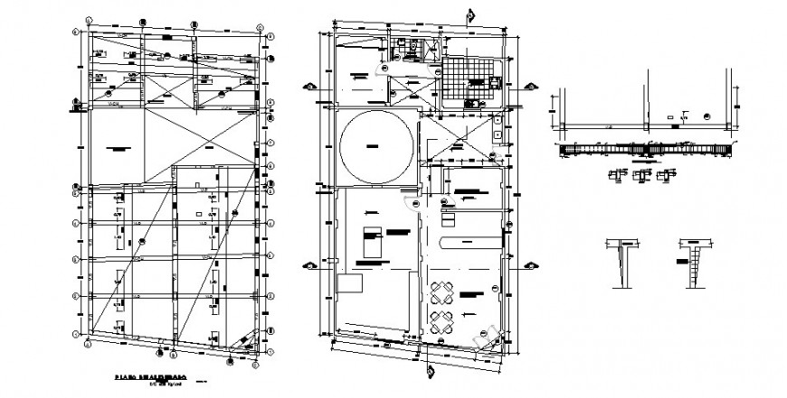 House foundation plan and layout plan cad drawing details dwg file