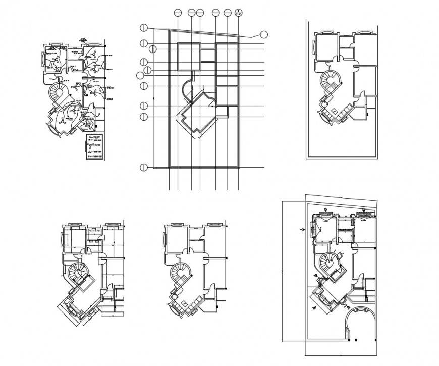 House framing and electrical layout plan cad drawing details dwg file