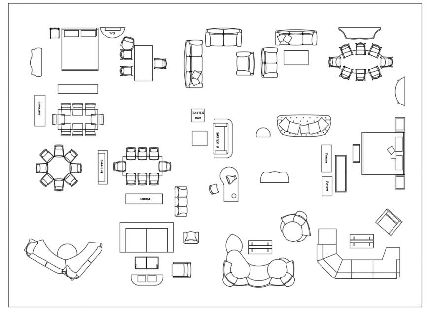 House Furniture detail block design