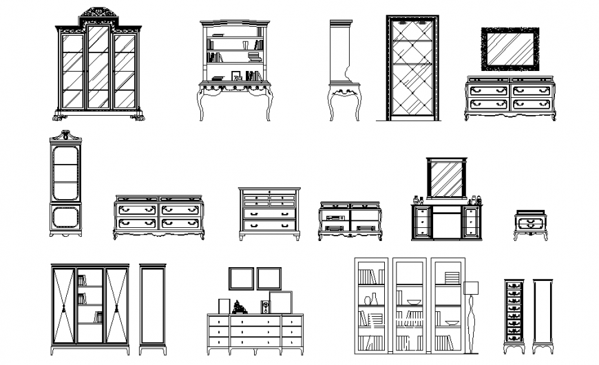 House Furniture Elevation Design Block